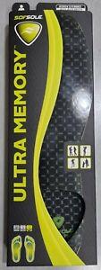 Sof Sole Ultra Memory Lightweight And Flexible Insoles UK Men Size 6-12 EU 40-46