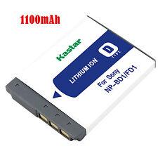 1x Kastar Battery for Sony NP-BD1 FD1 Type D CyberShot DSC-G3 T2 T77 T900 TX1