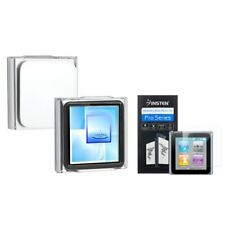 Clear Clip-on Crystal Case+3x Clear Screen Protector For iPod Nano 6 6G 6th Gen