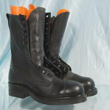Rugged 1995 Black Leather US Military Cap Steel Toe Linesman Combat Boots 6.0R