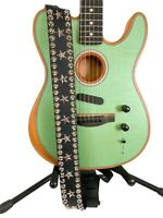 Studded Star Guitar Strap Leather Electric Acoustic Bass Rock Queen Belt Style