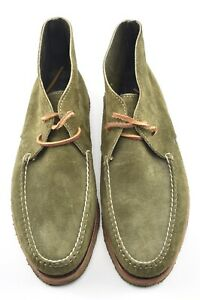 RANCOURT 11.5D OLIVE SUEDE HANDSEWN CHUKKA BOOT CREPE SOLE MAINE