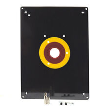 """9"""" x 12"""" x 3/8""""  Router Table Insert Plate Rings 3-7/8"""", 2-5/8"""", 1-1/4"""" - 18100"""