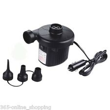 12V PORTABLE ELECTRIC AIR PUMP FOR INFLATABLE AIRBED BOAT POOL BALL CAMPING PUMP
