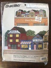 Vintage 1996 Bucilla Main St. Door Topper Plastic Canvas 6190 Craft Needlepoint