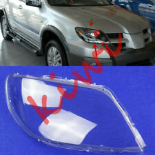 RIGHT Side Headlight  Clean Cover PC + Glue For Mitsubishi Outlander 2003-06 YQ