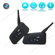 2 x BT Bluetooth Wireless Motorcycle Helmet Interphone Intercom Headset 6 Riders