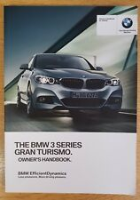 GENUINE BMW 3 SERIES GRAN TURISMO HANDBOOK OWNERS WALLET 2013-2017 PACK D-71