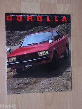 Toyota Corolla (E70-Serie) Coupe / Hardtop / Liftback Prospekt, Japan, selten!
