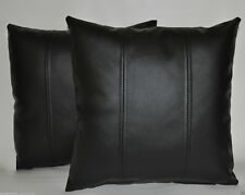 Pillow Cushion Cover Leather Decor Set Genuine Soft Lambskin Black All sizes 22