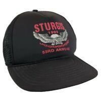 Vintage Sturgis 1993 53rd Annual Trucker Hat Cap Snapback Mesh Biker Motorcycle