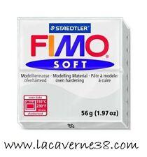 Pain de pâte polymère FIMO Soft gris N°80 création bijoux perles