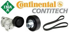 Drive Belt SET BMW w/CONTI Belt 6PK1538, INA Idler Pulley + MECHANICAL Tensioner