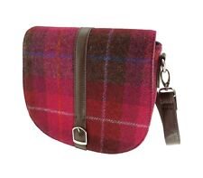 Ladies Authentic Harris Tweed Beauly Shoulder Bag Pink/Red Check LB1000 COL 52