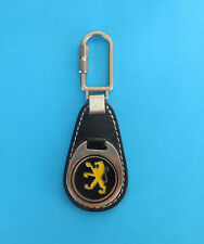 PEUGEOT ... nice old and rare leather keychain