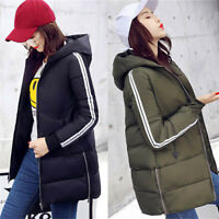 2017 Womens Down Cotton Long Winter parka Hooded Puffer Coat Jacket Outwear Hot#
