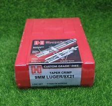 Hornady 9mm Luger/9X21 Custom Grade Reloading 3-Die Set Taper Crimp - 546516