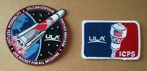 Authentic/Original ULA Artemis ICPS & Vulcan Launch Vehicle Patch Set - 2pcs.