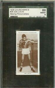 1938 CHURCHMAN'S JOE LOUIS #26 SGC 8 (88) NM/MT CIGARETTE TRADING CARD
