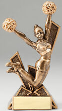 "cheerleading trophy award team, great new design, about 6"" High, w/ engraving"