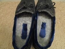 Mens Arfango Leather with Blue VELVET Trim Moccasin Lined Driving Shoes 8 Mens