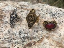 Elven Gandalf Lord of the Rings Hobbit Lot of 3 different Rings Combo Lotr