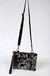 Real Cowhide Cross body Purse Handbag & Hand Clutch  Cow Hide Leather  SA-6639