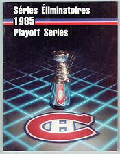 1984-85 Montreal Canadiens Playoff Series Program, vs Bruins