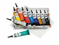 Pebeo Vitrea 160 Oven Bake Stain Glass Paint 3D Outliners Set 10 x 20ml Colours