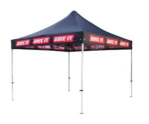 Bikeit Easy-Up Steel Frame Motorcycle Bike Canopy With Bikeit Printed Logo