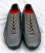 Nardi Shoes - Low Cut Black Italian Leather Driving Shoes Size 41 Made In Italy