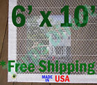 6' x 10' Clear Poly Tarp Room Divider Patio Porch Enclosure Fumigation Curtain