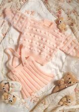 Baby girl Bobble sweater and skirt Knitting pattern . To Knit in DK wool