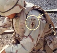 KANDAHAR-WHACKER© JSOC ARMY 5TH SPECIAL FORCES GROUP SFG INSIGNIA w/AIRBORNE TAB