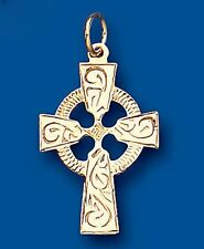 Pendentif Croix CROIX CELTIQUE OR JAUNE cross necklace