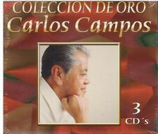 Carlos Campos CD NEW Coleccion De Oro BOX SET Con 30 Canciones !