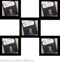 GOLD 1/10 th TROY OUNCE OZ 24K PURE SOLID TGR PREMIUM BULLION BAR 999 FINE INGOT