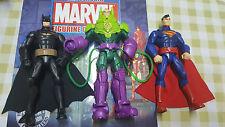 """DC FIGURE BUNDLE SUPERMAN VS BATMAN VS LEX LUTHER 6"""" TALL FIGURES JUSTICE LEAGUE"""