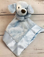 Baby Gund HTF Spunky 4059349 Lovey Security Blanket Plush Puppy Dog Blue Brown