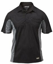 New Dewalt / Apache Black Dewalt Performa Wicking Polo Shirt Work T-Shirt