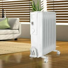 Ölradiator 2000 W Radiator Elektro-Heizung Ölheizung Rollbar Thermostat 3-Stufen