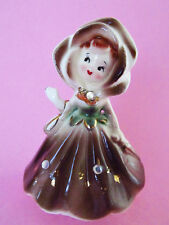 'Golden Girls' * Bell! * Rose Petal Face & Rhinestones * Enesco * Very Rare!