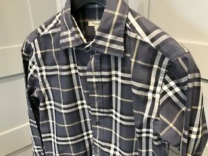 Burberry Dress Shirt - Blue Check Small