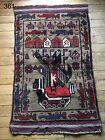 •361• Beautifully Handmade  Genuine Afghan War Rug,  Traditional Style 142x85 cm