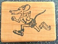 "Vintage Rubber Stamp ""Rat Race""  by Unbranded 1 1/2 x 2""  circa 1985"