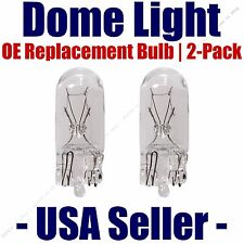 Dome Light Bulb 2-Pack OE Replacement - Fits Listed Ford Vehicles - 168