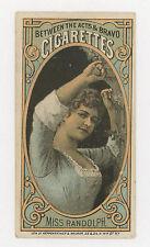 1880-92 N-342 Between The Acts Miss Randolph, Thomas Hall Tobacco Card