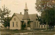South Dakota, Sd, Desmet, Methodist Church 1910 Real Photo Postcard