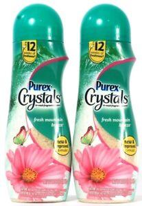 2 Bottles Purex 21 Oz Crystals Fresh Mountain Breeze In Wash Fragrance Booster