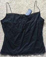 GUESS COLLECTION Women's Black Spaghetti Strap Dress Tank ~NWT~ Size Large